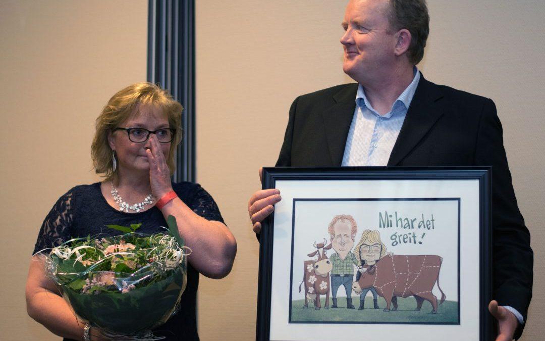 Monica og Knut Olimstad fikk «Mi har det greit»-prisen