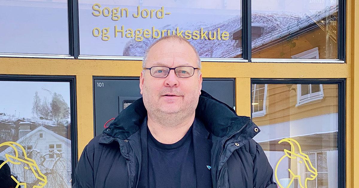 Kjetil Øvstetun, ny rektor på Sogn jord- og hagebruksskule